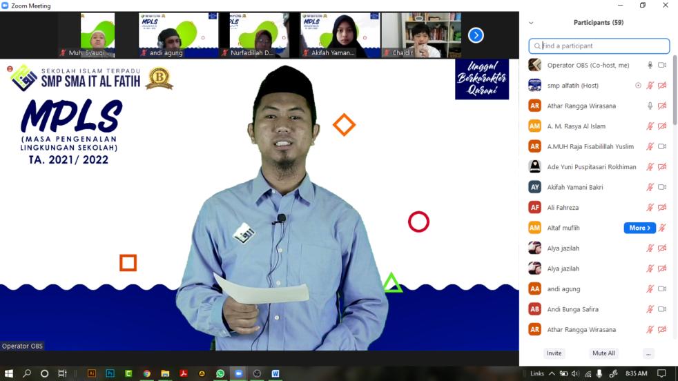 MPLS SMP SMA IT Al Fatih Makassar Galakkan Bahaya NAPZA dan Korupsi